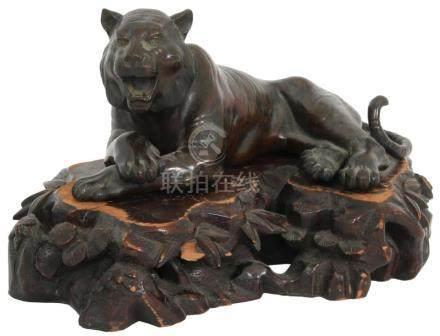 Meiji Bronze Sculpture of a Tiger