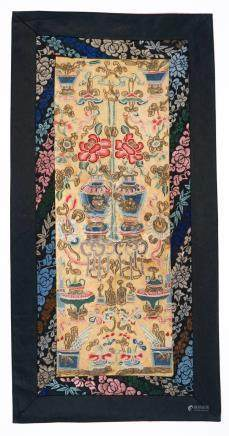 Pair Chinese Forbidden Stitch Sleeve Panels