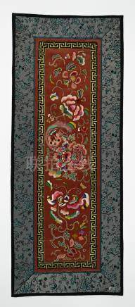 Chinese Forbidden Stitch Panel