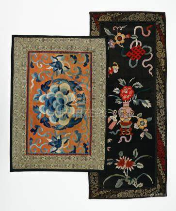 Two Chinese Silk Embroidery Panels