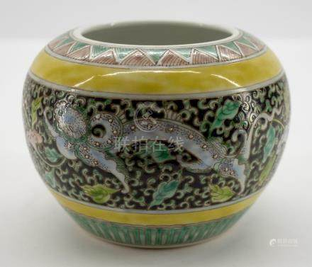 Chinese Famille Verte Pot with Guangxu Mark