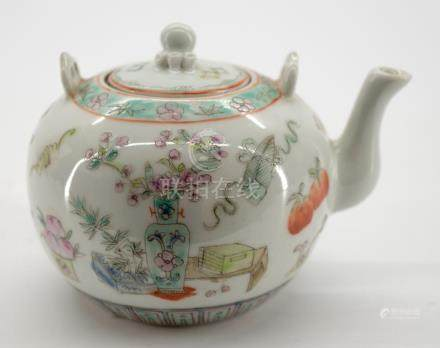Old Chinese Signed Porcelain Teapot