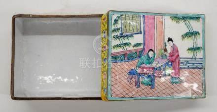 Chinese Peking Enamel Covered Box