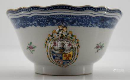 Chinese Export Armorial Bowl