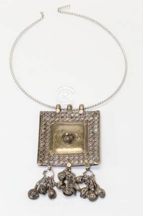 Southeast Asian silver pendant.