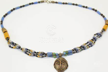 African glass beads necklace
