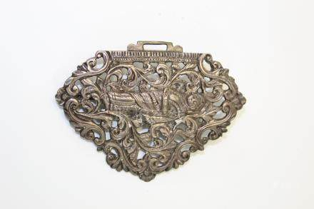 Antique Indian silver brooch,