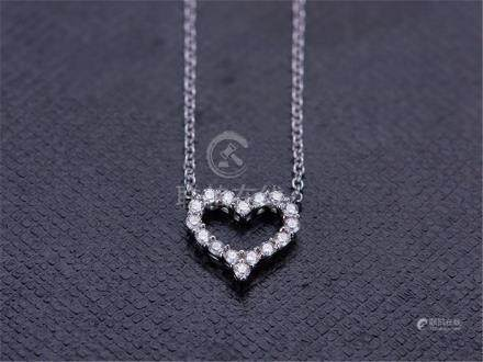 TIFFANY HEART 18K WHITE GOLD DIAMOND NECKLACE