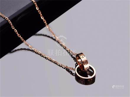 CARTIER LOVE 18K ROSE GOLD NECKLACE