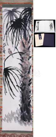 CHINESE SCROLL PAINTING OF PLUM TREE WITH PUBLICATION