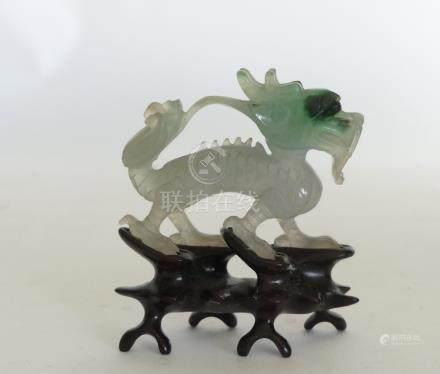 Petit DRAGON en jade sculpté. Chine