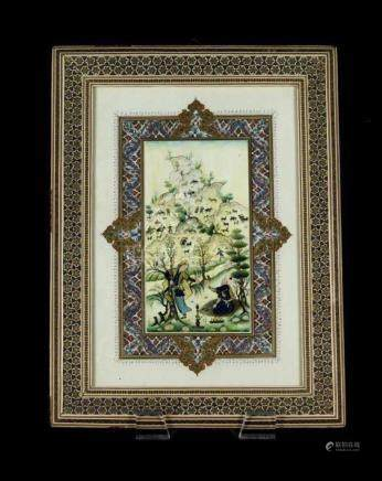 PERSIAN HAND PAINTED MINATURE SIGNED EMAMI
