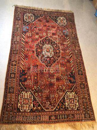 PERSIAN SHIRAZ RUG – 5.0 x 8.10 – 40+ YRS (1970s)