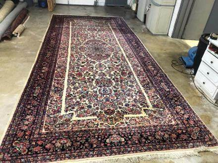 PERSIAN KAZVIN PALACE SIZE RUG - 8.10 x 19.5 - ANTIQUE 70+ Y