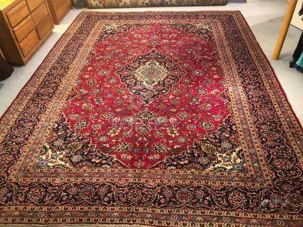PERSIAN ANTIQUE KASHAN RUG – 10.0 x 13.2 - 60+YRS (1950s)