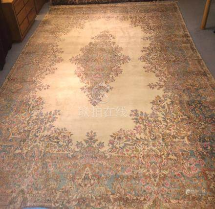PERSIAN KERMAN RUG – 9.9 x 16.0 - 30+YRS (1980s)