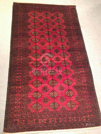 PERSIAN ANTIQUE TURKOMAN TEKKE – 4.2 x 7.7 - 60+ YRS OLD (19