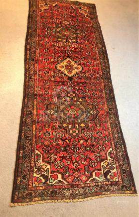 PERSIAN ANTIQUE SERAPI HERIZ RUNNER – 3.5 x 9.2 - 80+ YRS OL
