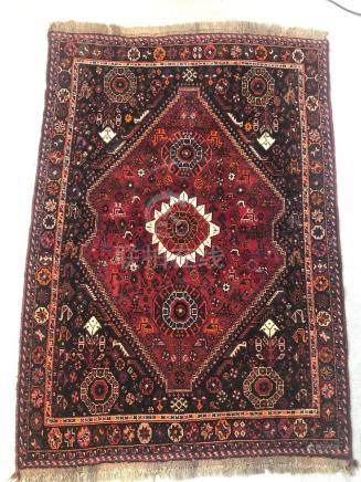 PERSIAN SHIRAZ RUG – 3.9 x 5.6 – 40+ YRS (1970s)