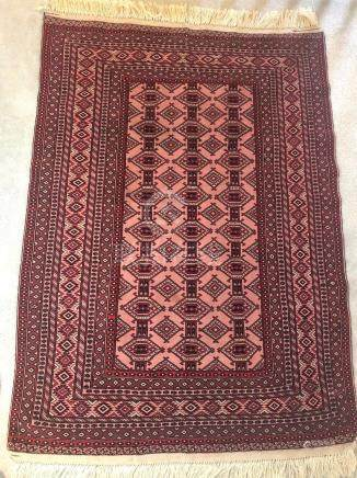 TURKISH BOKHARA YAMUD RUG – 4.0 x 5.9