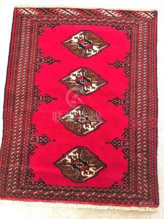 PERSIAN YAMUD BOKHARA RUG – 2.9 x 3.6 - 80+ YRS OLD (1930s)