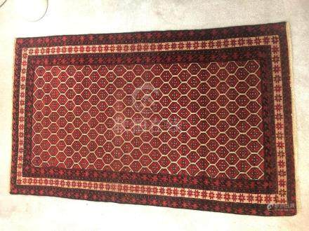 PERSIAN ANTIQUE HERIZ SERAPI RUG – 3.4 x 5.7 - 80+ YRS OLD (
