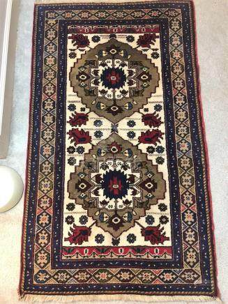 PERSIAN ANTIQUE HERIZ SERAPI PRAYER RUG – 2.10 x 4.10 - 50+