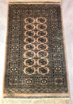 PAKISTANI MORI BUKHARA TEKKE SIGNED PRAYER RUG – 3.2 x 5.4
