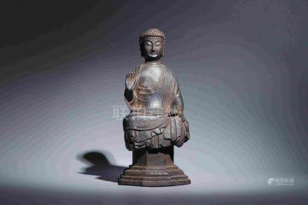 OLD IRON SITTING BUDDHA