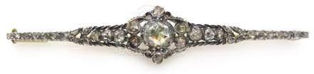 Early 20th century Dutch rose cut diamond 14ct brooch
