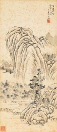 张之万-深林修竹