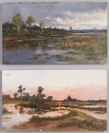 Pair of Continental School Landscape Paintings Beyens