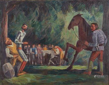 Dewey Albinson Don Quixote Oil on Canvas