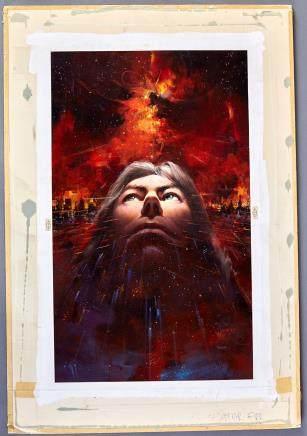 John Berkey Star Fire Book Cover Illustration Painting