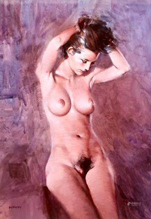 John Berkey Nude Acrylic on Board