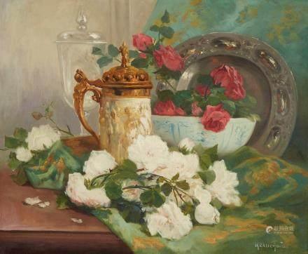 Eugene Henri Cauchois Still Life Oil on Canvas