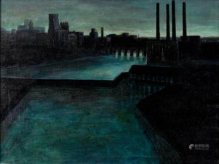 Mike Lynch Minneapolis View Oil on Canvas
