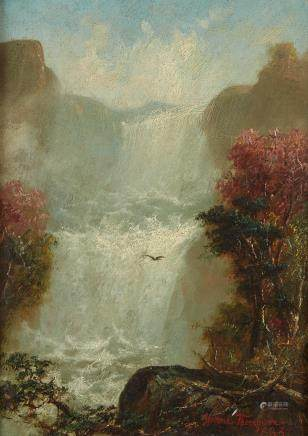 Jerome B. Thompson Dakota Cascade Oil on Panel Painting