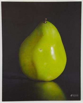 Tom Seghi Green Pear Painting