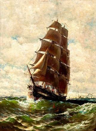Harry (Henry) Chase Marine Painting
