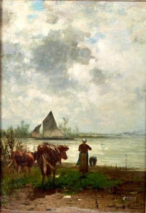 Richard Burnier Painting  Dutch Landscape