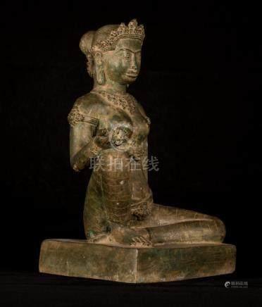 19th Century Burmese Parvati or Uma