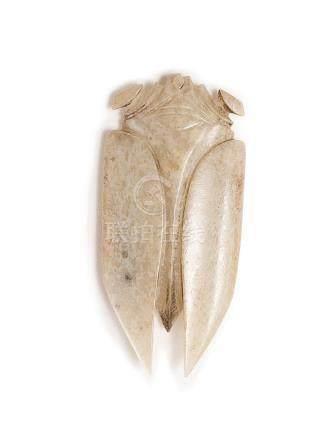 An Archaic White Jade Cicada