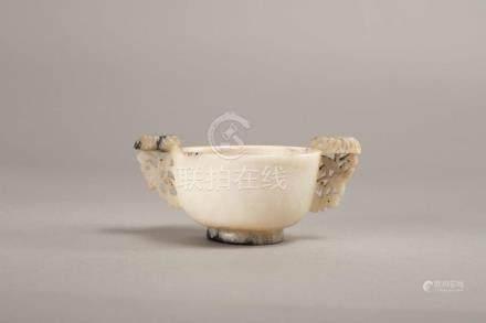 An Archaic White Jade Cup
