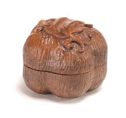 A Carved Bamboo Incense Box