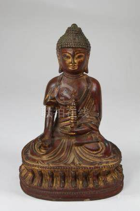 Early Antique Bronze Bhaisajyaguru Buddha