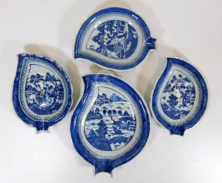 Four pieces of 18thC. Chinese Nanking porcelain le