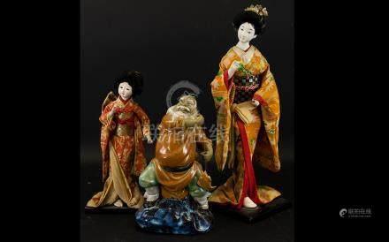 A Pair of Mid 20th Century Japanese Deit