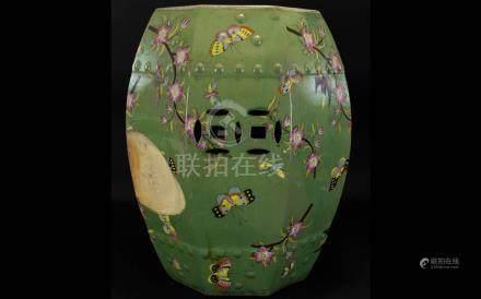 Antique Chinese Celadon Glazed Garden St