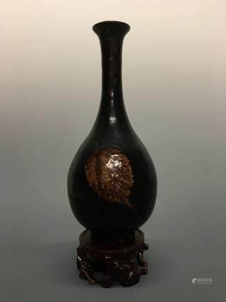 Chinese Jizhou Ware 'Leaf' Vase
